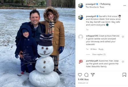Patrick welcomed first child in 2014 and second one in 2017.
