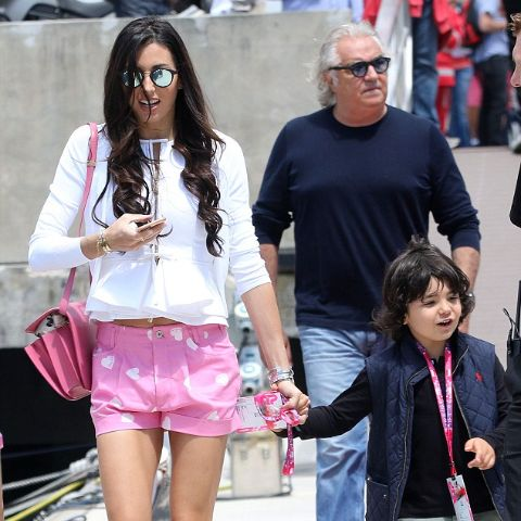 Elisabetta Gregoraci enjoying her vacation with her family.