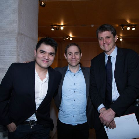 Documented' Writer and Director Jose Antonio Vargas, President of MTV Stephen Friedman, and the Executive Vice President of the Asian Society Tom Nagorski attend a Special Screening Of 'Documented' Co-Hosted By Asia Society And MTV at Asia Society on May 1, 2014 in New York City.