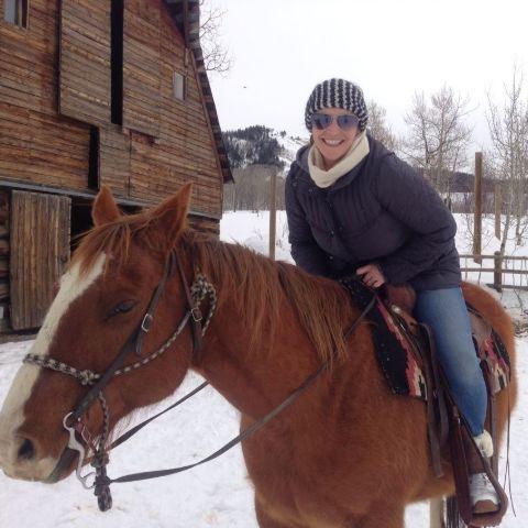 Melissa Hudson Bell on her horse.