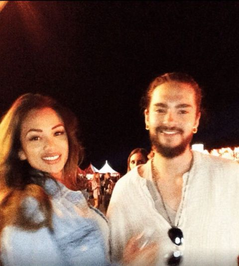 Ria and her ex-husband tom having fun at the party. They are spending time at the night.