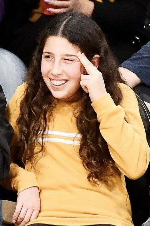 Sadie Sandler in a show with a beautiful smile