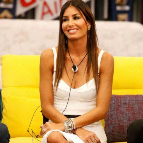 Elisabetta Gregoraci with her beautiful smile.
